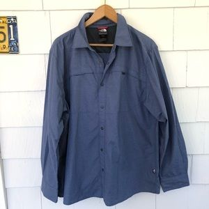 The North Face Blue Check Button Down Shirt